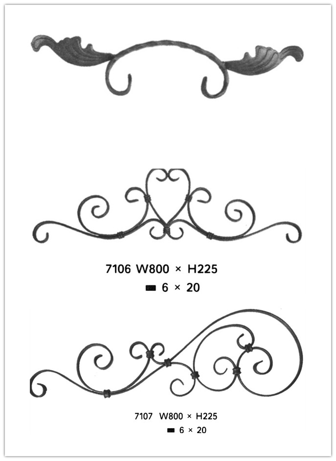 wrought iron piles and rosettes for security fencing on whole sale in China