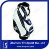 luxury pu leather white golf staff bag 1 golf bag
