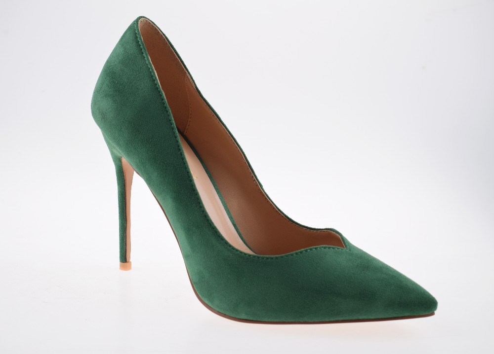 Wholesale Green Suede Shoes Pointed