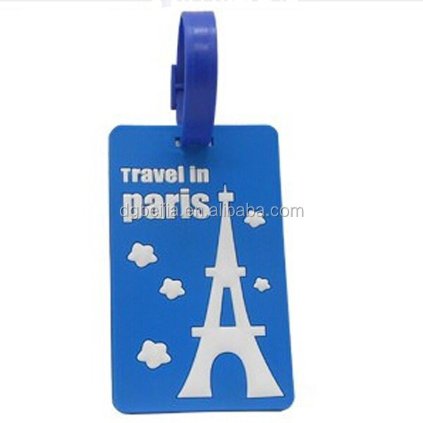 Beautiful best sale pvc baggage tag