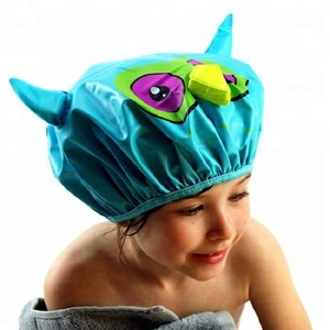Mold Resistant Waterproof Novelty PEVA Shower Cap for Baby