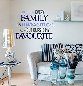 Every Family Is Awesome Wall Decal, Family Wall Decal Quote, Home Quote, Kitchen Decals, Family Quote Decal,Inspirational Quote, Decals XE34