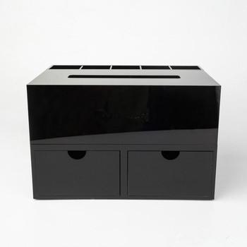 Black Cosmetic Cosmetic Acrylic Box Acrylic Makeup Box Custom