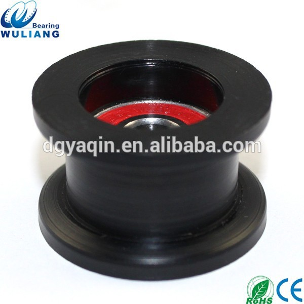 China alta calidad 8x34x11mm cóncavo polea de nylon 608RS