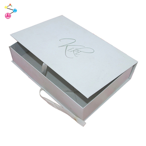 High quality Gift Package Box Flatpack white Paper Box