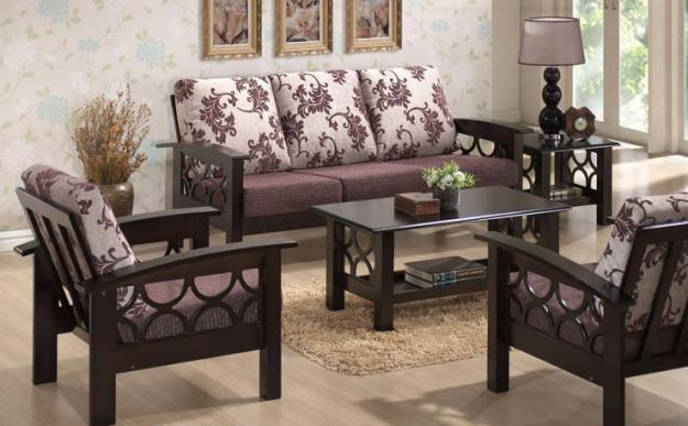 Induscraft Designer Wooden Sofa Set Buy Online Furniture