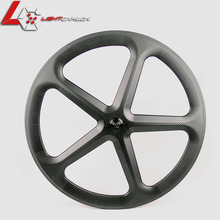 Track 5-Spoke Carbon Wheel Aerodynamic Five Spoke Wheel For Track Bike