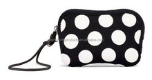 Dot neoprene zip camera case with strap