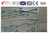 double loop leads tie out chain