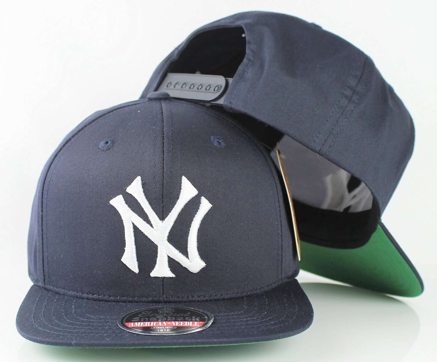 0802dc16c75 Get Quotations · New York Yankees MLB American Needle Outfield Retro Flat  Brim Snapback Cap