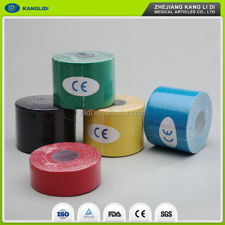 High quality synthetic kinesiology tape cotton elastic sport tape for athletes