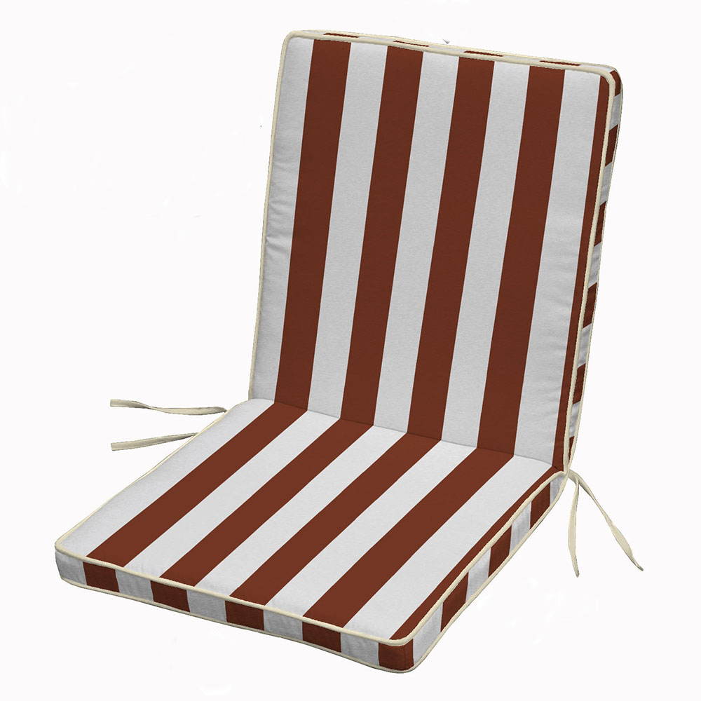 Waterproof striped High Back Cushions Chair Cushion