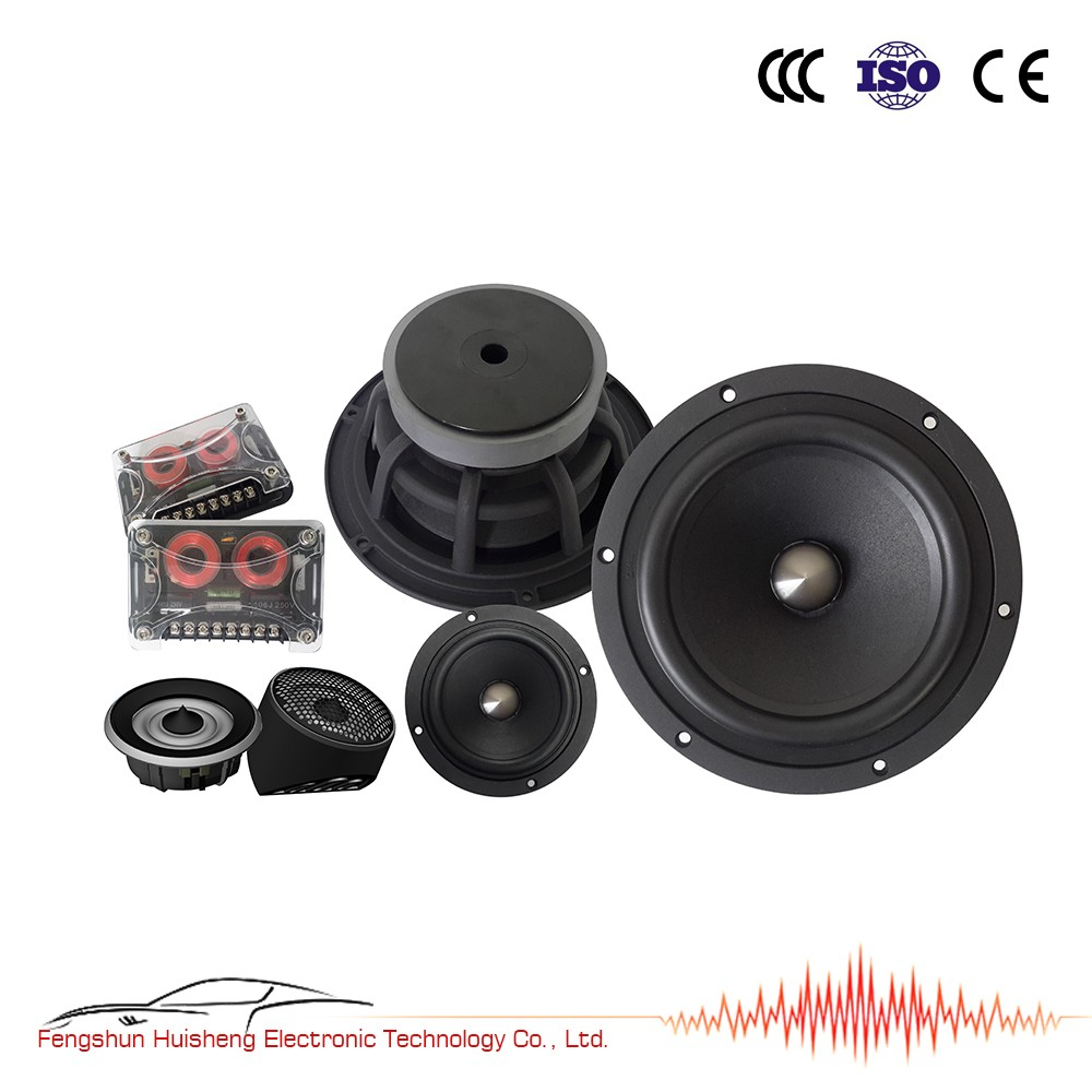 6.5'' WS-C653XP 6.5 inch Hi-quality car surround sound speaker component audio system 3 way speaker crossover