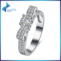 Fashion jewelry 925 silver platinum ring price