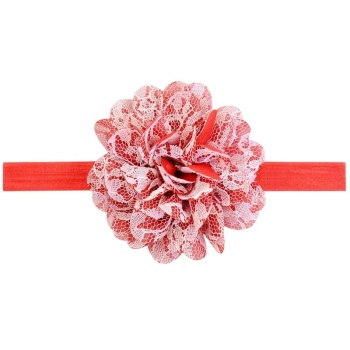 Elastic flower lace headband newborn kids baby girls toddler hair accessories