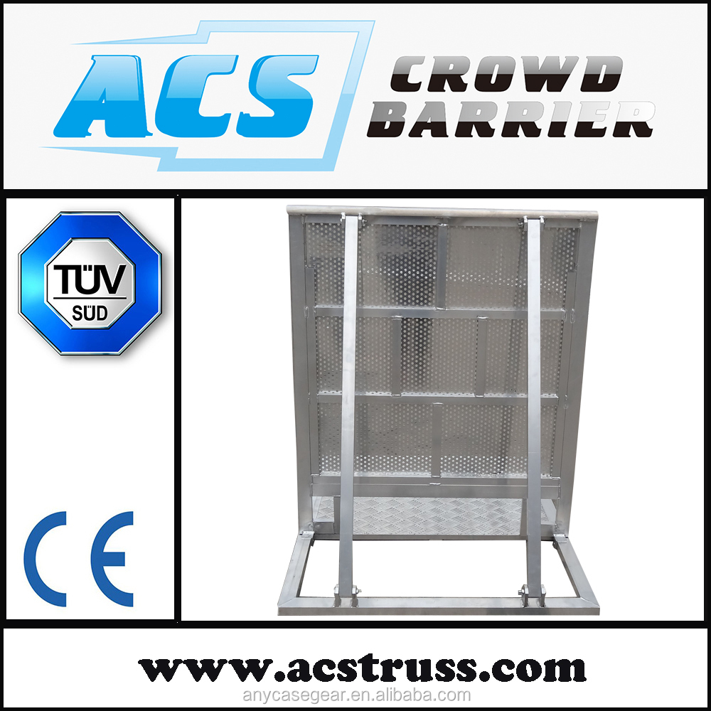 High quality Aluminum Crowd Control Barricade/Traffic Plastic Pliable Barrier /Portable Crash Crowd Barrier