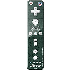 NFL New York Jets Wii Remote Controller Skin - New York Jets Distressed Vinyl Decal Skin For Your Wii Remote Controller