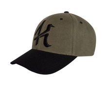 small MOQ bent brim sizable metal closure cotton baseball sport hat custom cap