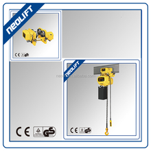 0.5 ton to 5 ton single speed electric trolley chain hoist