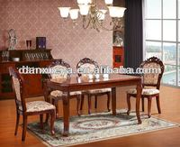 High quality chairs and tables home furniture dining set wood dinning table