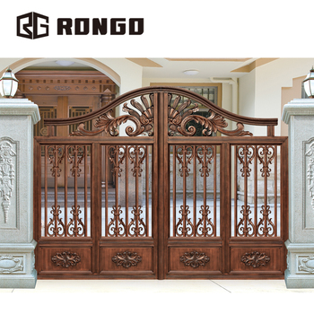 . Rongo Iron Front Gate Designs For Houses   Buy Iron Front Gate  Designs House Villa Gate Front Gate Designs For Houses Product on  Alibaba com