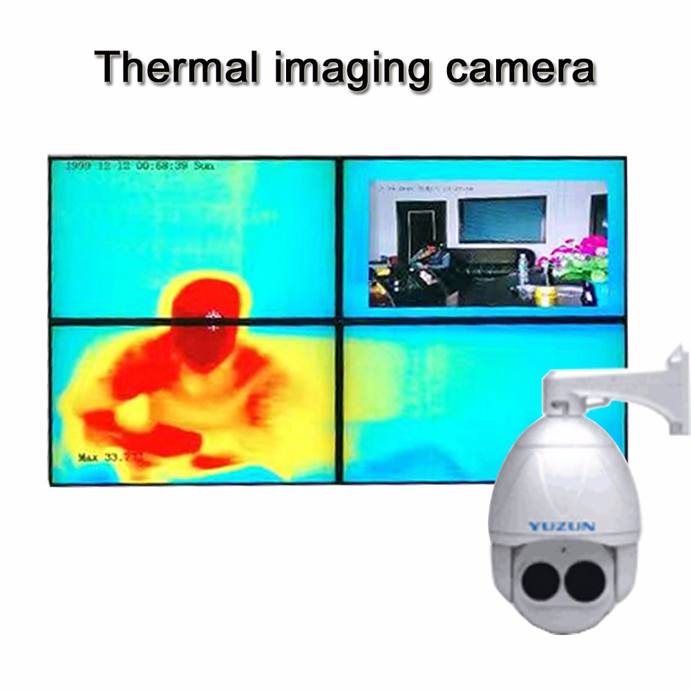 1080P speed dome infrared thermal imaging camera for fireproofing