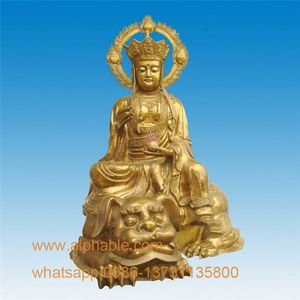 Temple Decoration Gold Plated Buddha Statue