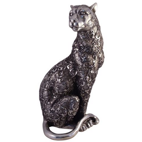 Custom Hand Gesneden home decor polyresin standbeeld panther
