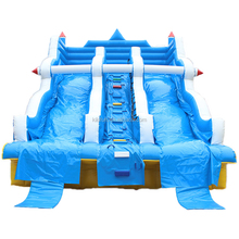 Wholesale price outdoor & indoor inflatable water slides for children use / used double lane kids swimming pool slide for rental