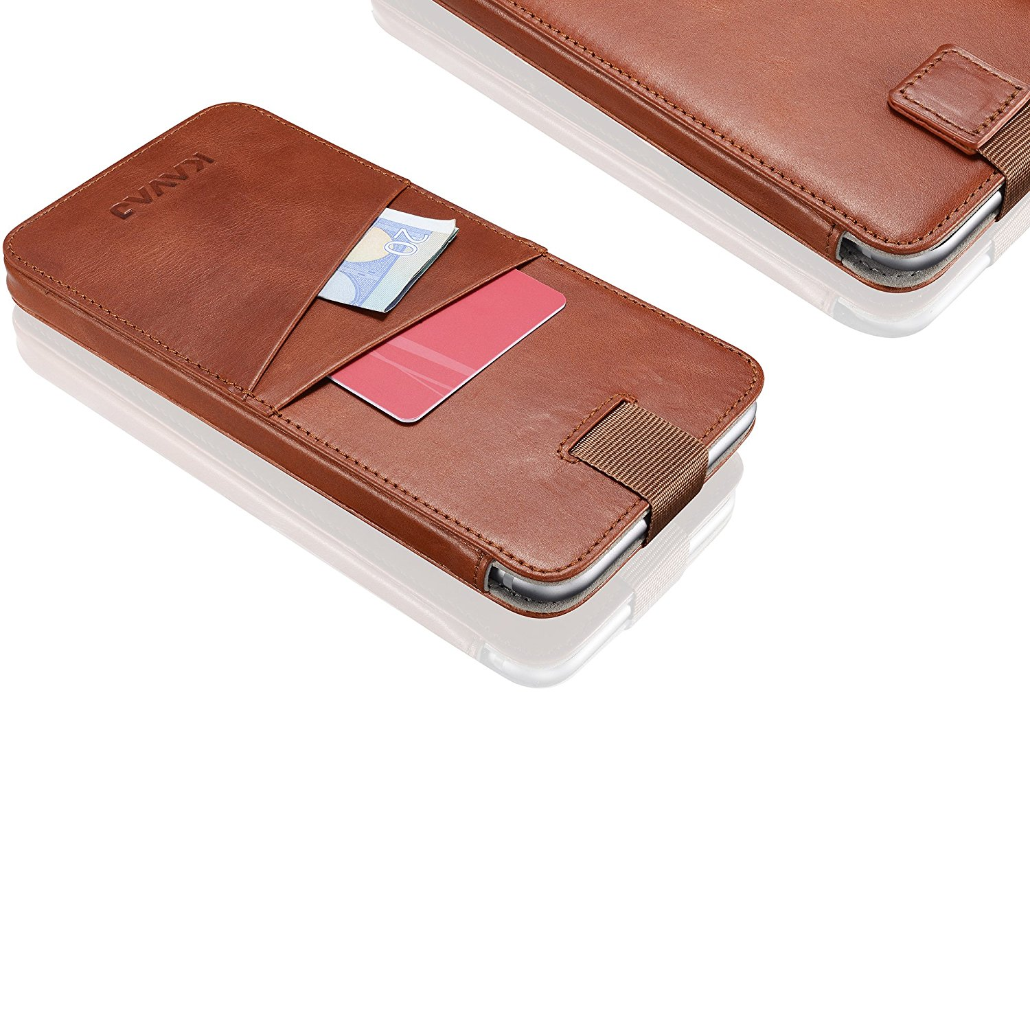Classic design leather phone sleeve case