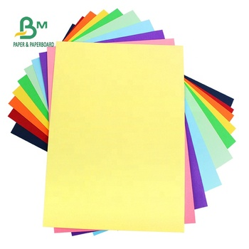Uncoated 80gsm 100gsm Bristol Card Colored Offset Paper For Handmade 70 * 100cm