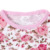 wholesale newborn baby clothes pink floral print ruffle sleeve baby gown