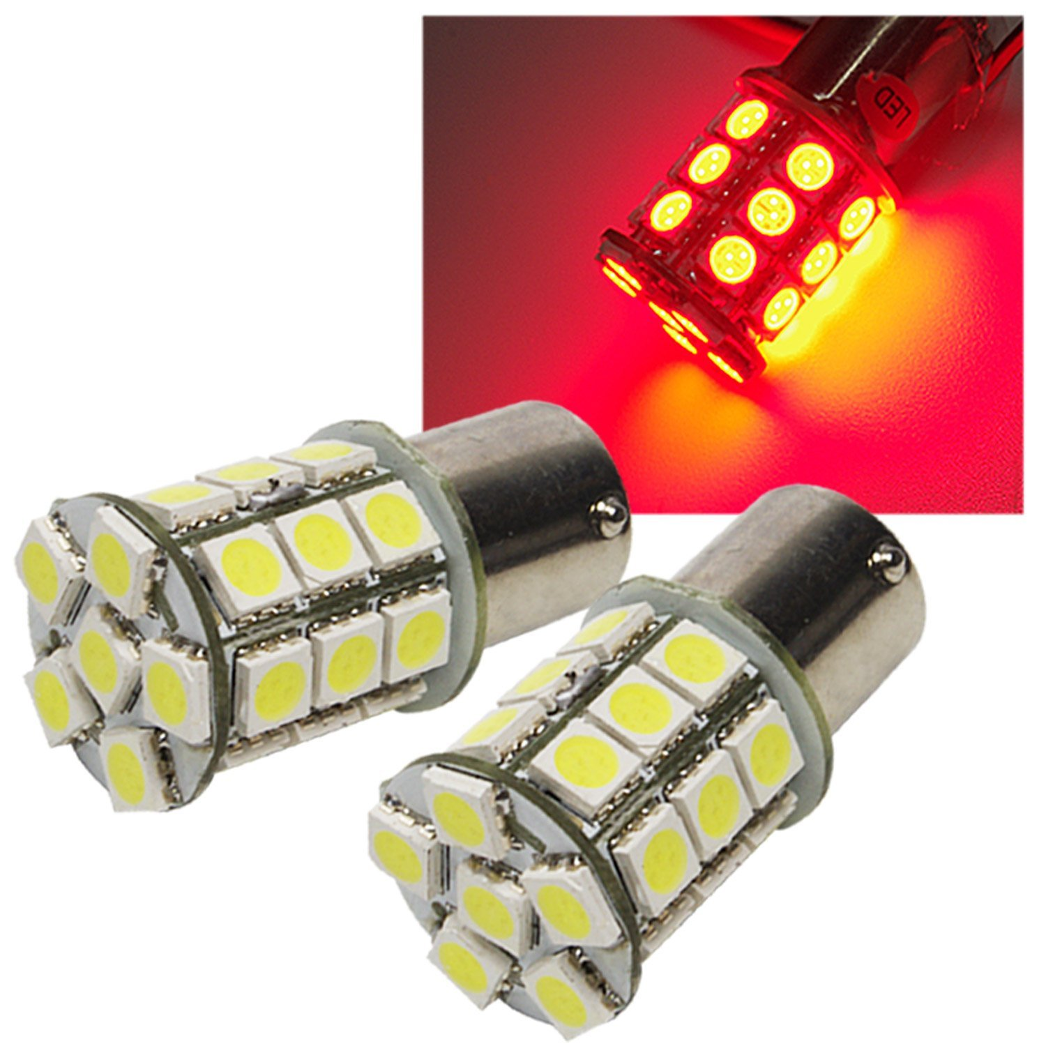 MAXWIN LED valve ball S25 27 consecutive diffusion type S sphere ultra-light-emitting red high-brightness SMD LB1-S25-27HP3-R-RE01