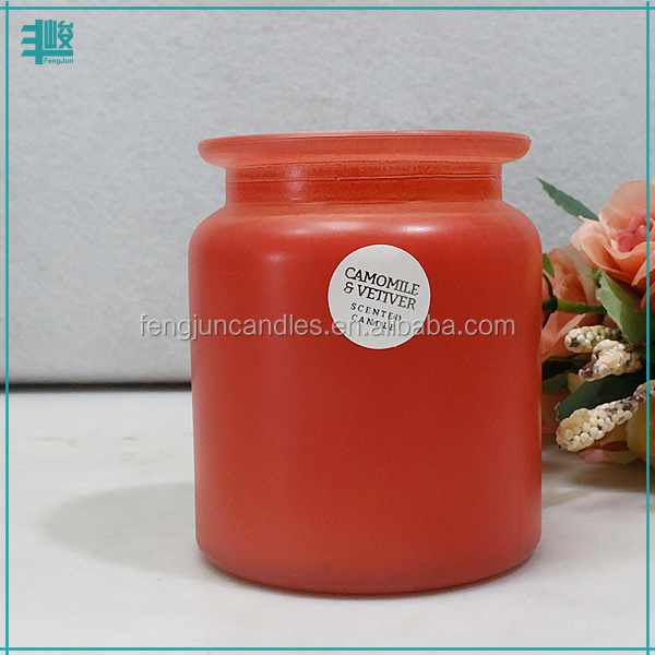 FJ matt effect Christmas red color cheap price paraffin wax scented candle
