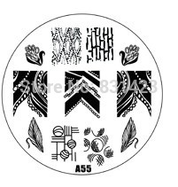 2015 new A Series A55 Nail Art Polish DIY Stamping Plates Image Templates Nail Stamp Stencil