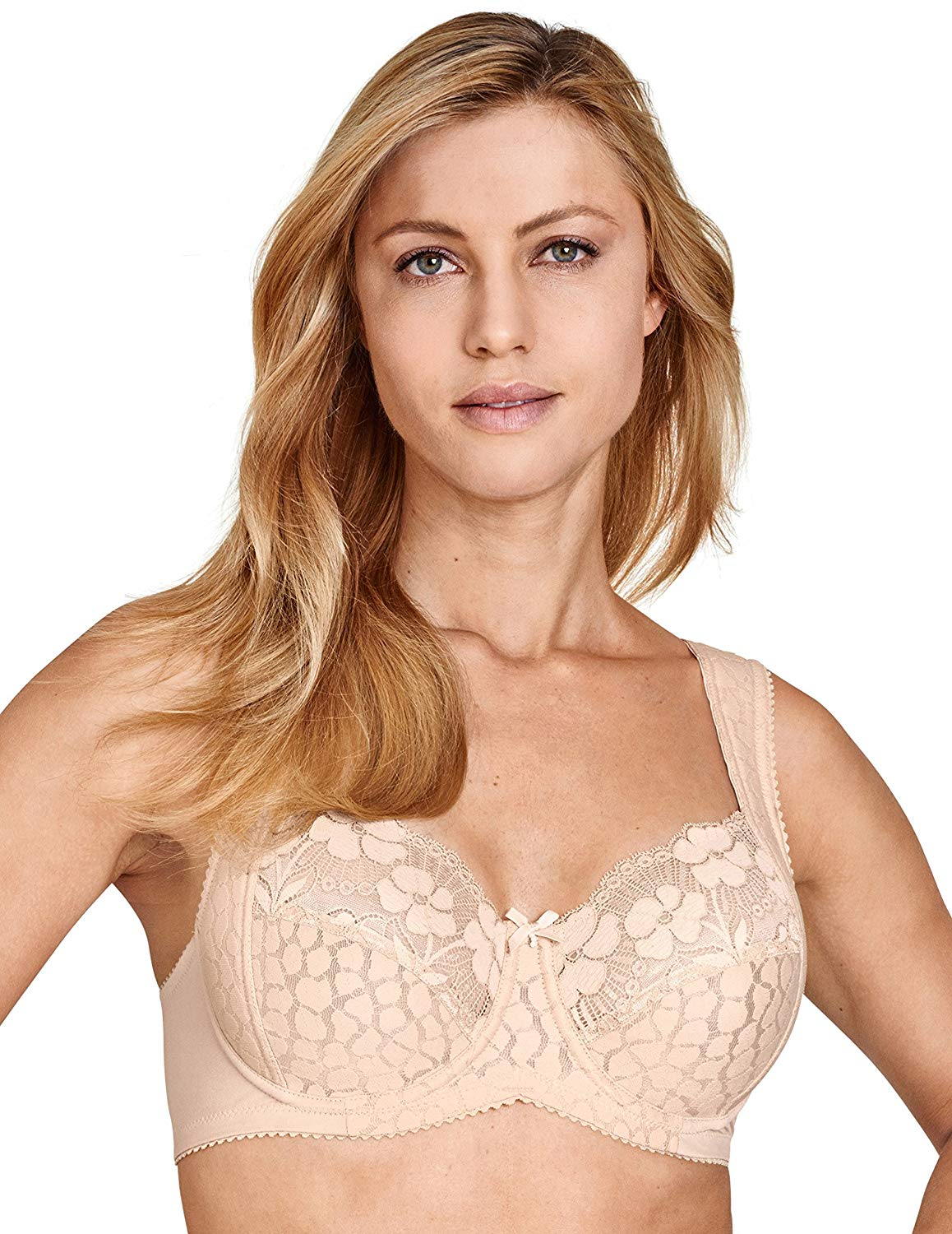 f53c00f742cc8 Get Quotations · Miss Mary Of Sweden Lovely Jacquard and Lace Underwired Bra
