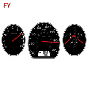 Car fuel and temperature,speedometer on dashboard stickers