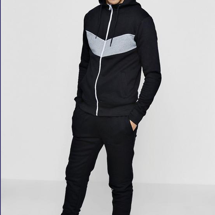 custom men tracksuit blank tracksuit wholesale sport fitness hoodie and jogger apparel with factory price