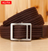 women fashion canvas belt with ball bearing buckle