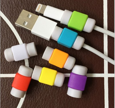 Factory supply rubber silicon USB datakabel protector voor iphone opladen cord