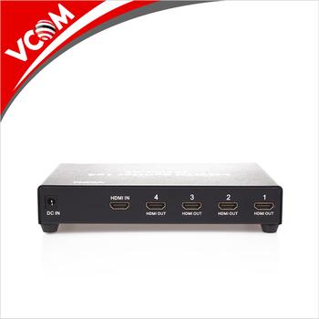 Vcom 1x4 High Definition Hdmi Splitter 1 In 4 Out Hdmi 1 4 Spliter 4k 2k  1080p 3d For Hdtv Projector - Buy Hdmi Splitter,Hdmi Splitter 1x4,4 Ports