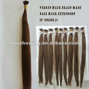 Virgin hair braid made Italian keratin hair extension