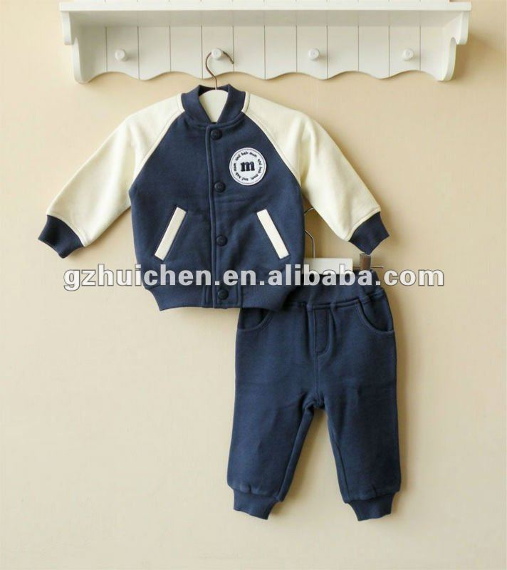 mom and bab 2012 Autun baby clothes set 100% cotton jacket pants