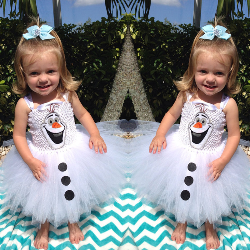 Olaf Tutu font b dress b font for little girls Kids font b Fancy b font