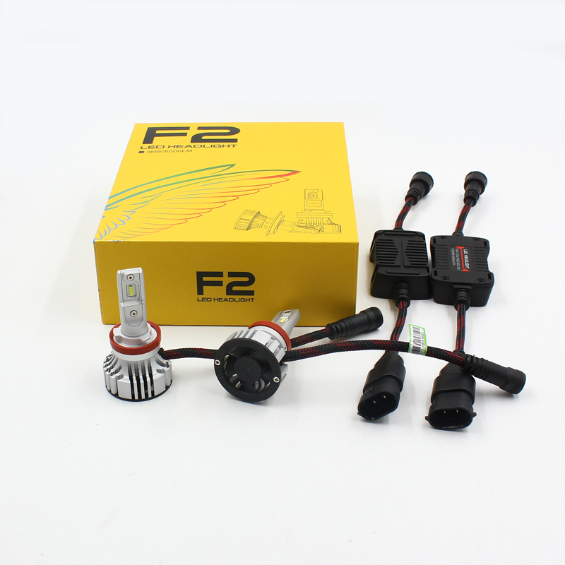 H4 12000lm 6500K F2 LED headlights H7 H8 H9 H10 H11 H16 5202 9005 9006 car LED headlights kits F2 H13 H4 LED car headlights
