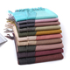 High Quality two-color Scarves Pure color For Women Winter Warm Scarf Floral Ponchos And Capes Wool For Dress