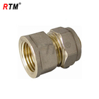 brass female nipple compression fitting for pex-al-pex pipe