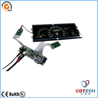 12.3 inch 1920X720 bar type TFT LCD with VGA and HDMI controler board