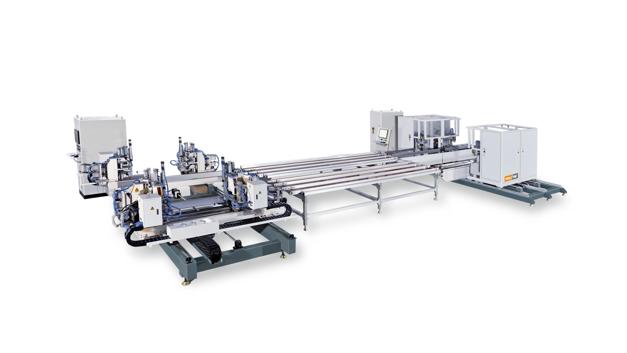 upvc window machine for auto welding corner cleaning production line