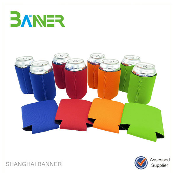 Promotional Logo printed cheap can beer stubby neoprene coolers